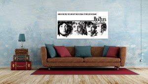 Beatles - and in the end Canvas Print