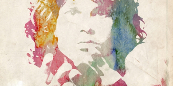Jim Morrison Colour Canvas Print